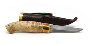 "3"" Norwegian Bird Knife with Masur Birch Handle"